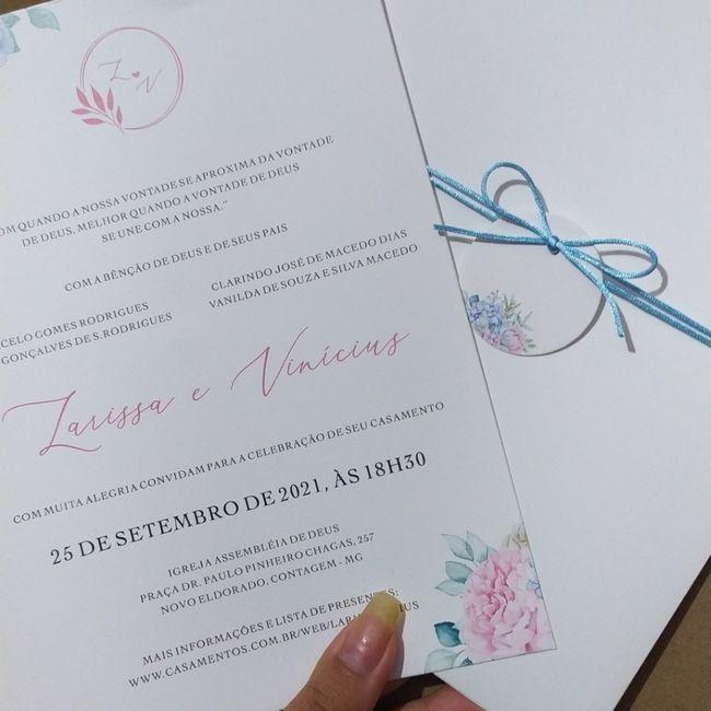 Os convites chegaram 😍😍😍 1