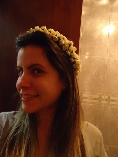 Coroa de flores Diy - Casamento Carol e Carlos