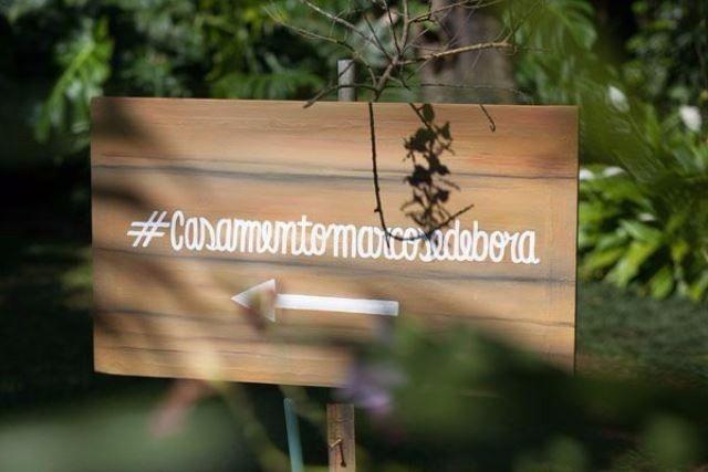 Hashtag para casamento - Casamento Carol e Carlos