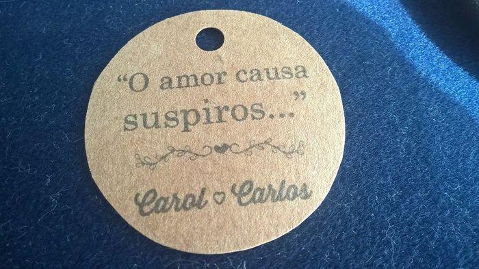 19 dias - Lembrancinhas - Suspiros + Kraft + doillies - Casamento Carol e Carlos