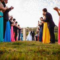 Vestido madrinhas - Não padronizei - Casamento Carol e Carlos