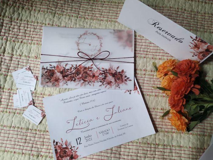 Nosso convite de casamento 😍🥰 1