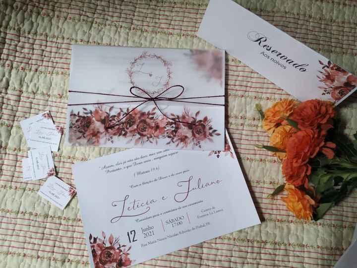 Nossa convite de casamento 😍🥰 - 1