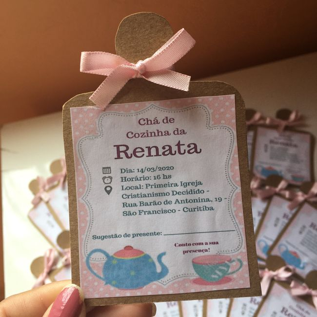 Convite Chá de Cozinha 1