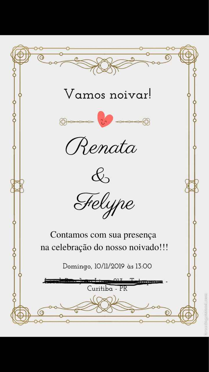 Convite Virtual - noivado - 1