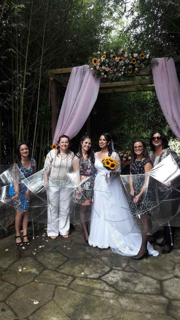 Casamento ao ar livre, além do plano B... Guarda-chuvas! - 1