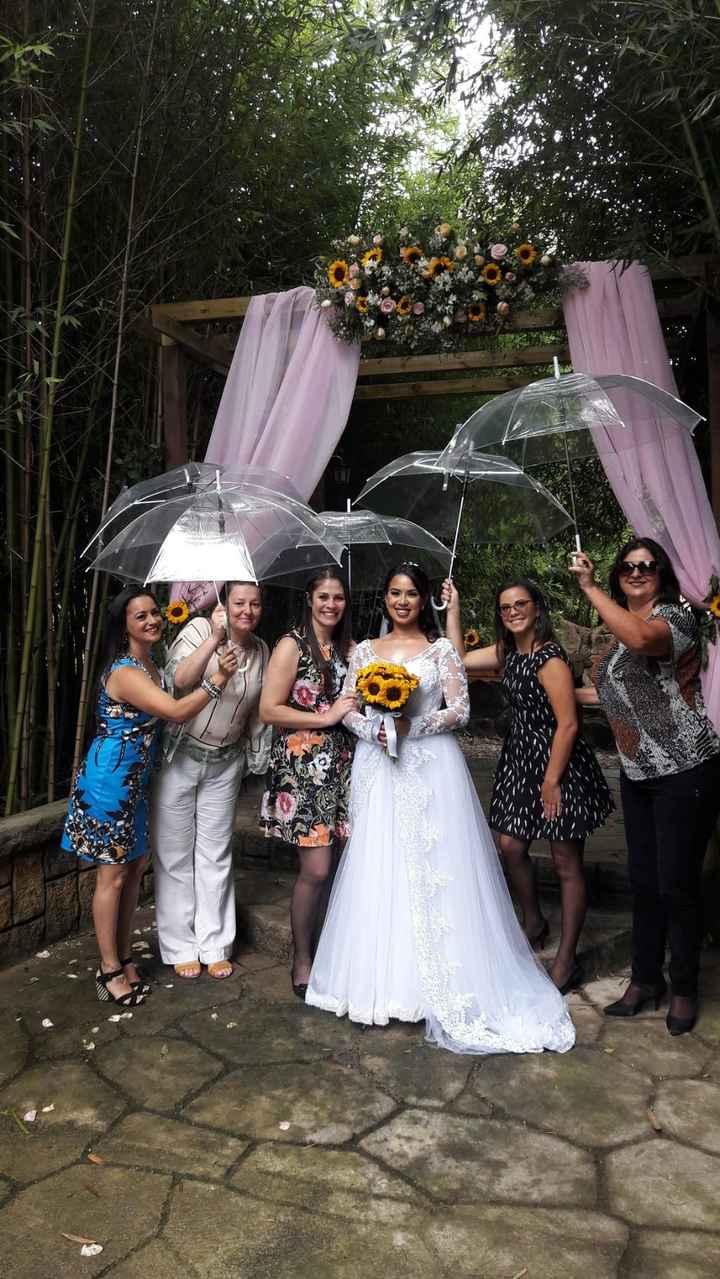 Casamento ao ar livre, além do plano B... Guarda-chuvas! - 2