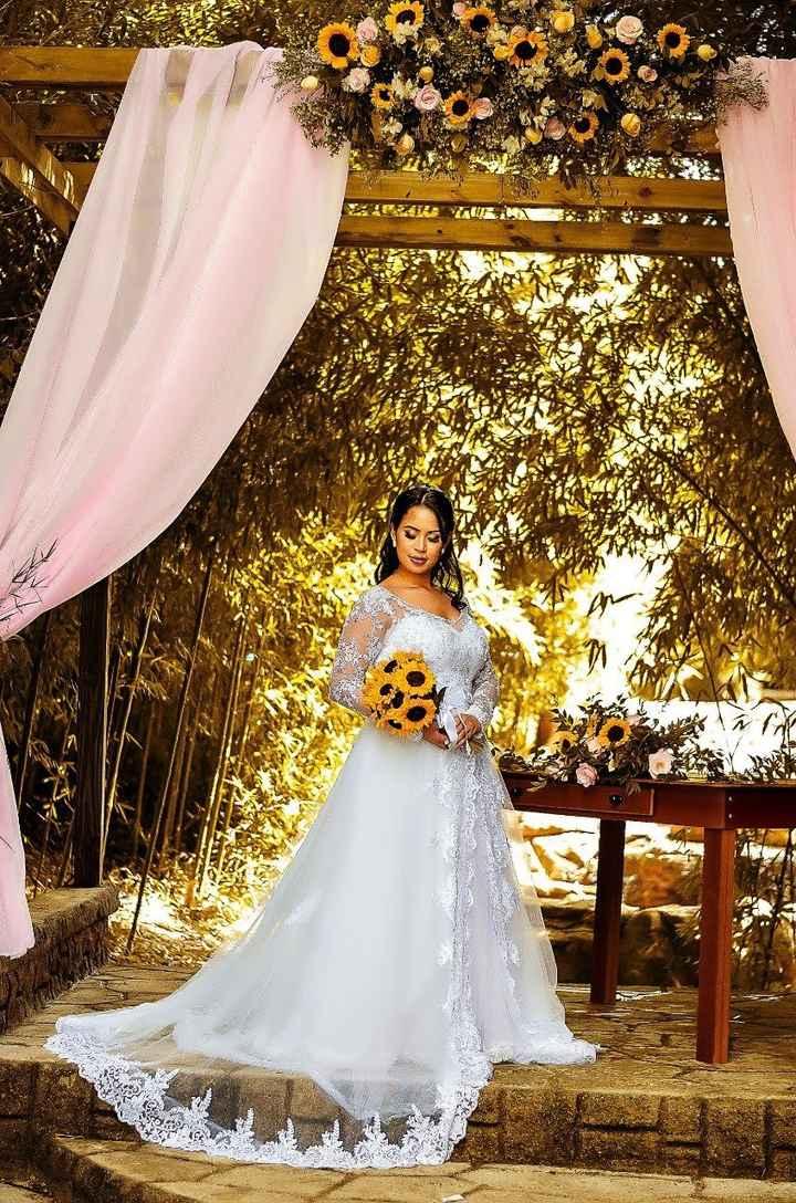 Casamento ao ar livre com vestido princesa, combina? - 1