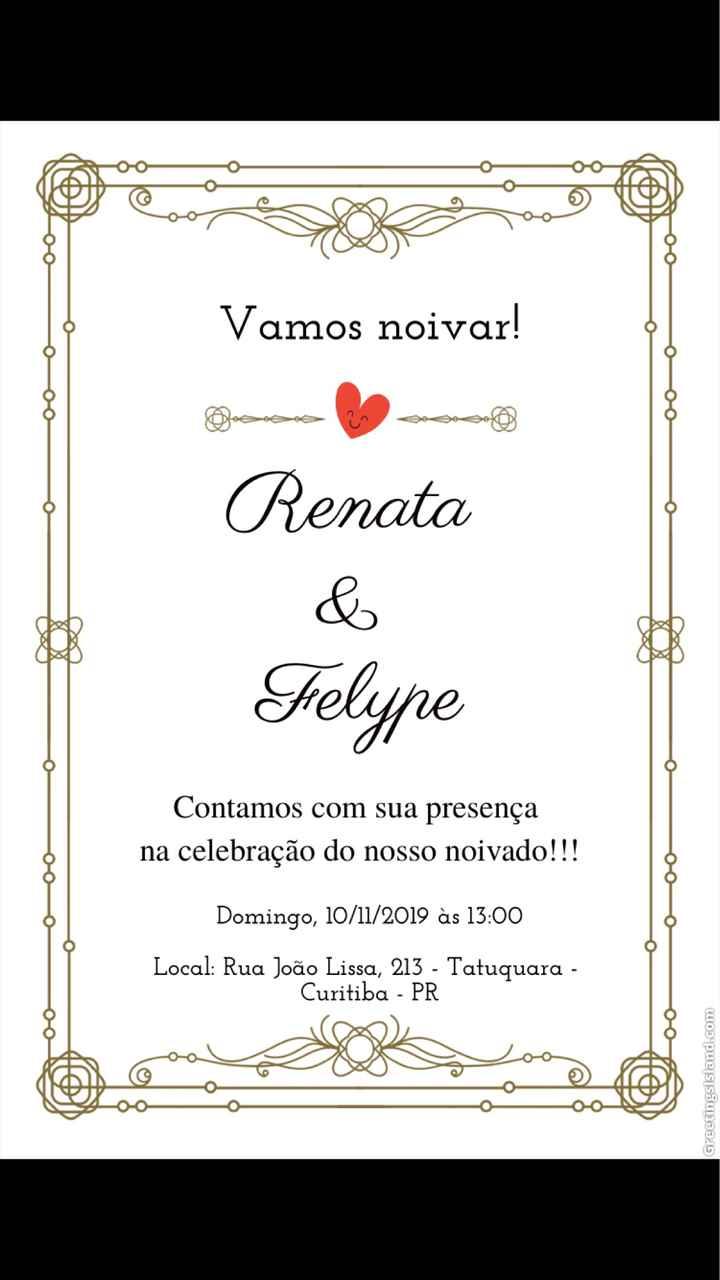 Convite de noivado - 1