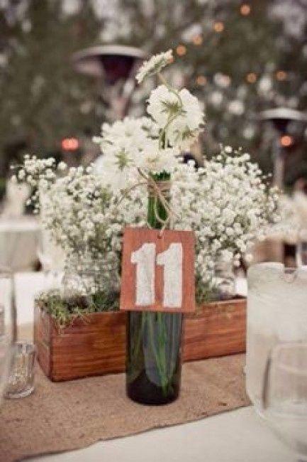 Caixotes na decora o r stica id ias e inspira es for Centros de mesa para restaurantes