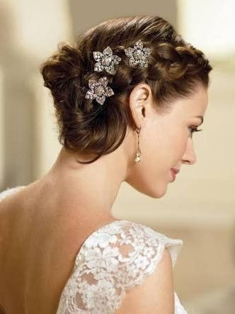 Penteados Para Noivas Com Cabelos Curtos