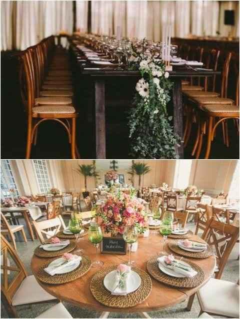 Sobre as mesas das famílias dos noivos 😯🍝🍷 - 1