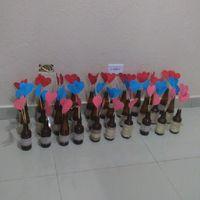 Corações para decorar garrafas - 2