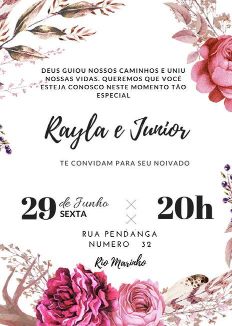 Convite Noivado 1