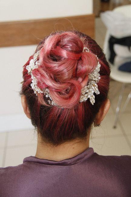 Eu amei demais o meu penteado e a cor do meu cabelo