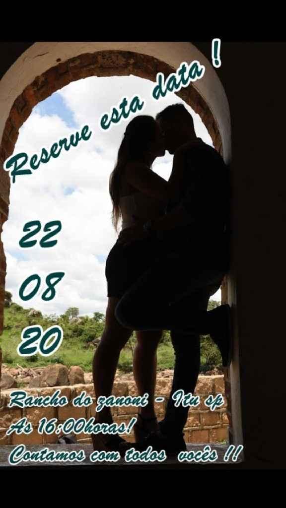 Convite para casamento Adiado!!! - 1