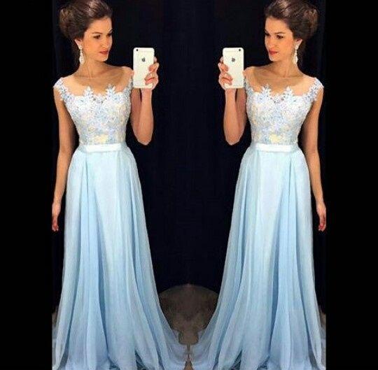 Vestido azul celeste para madrinha de casamento