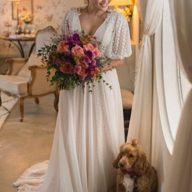 Inspirações de pets no casamento. Fofura infinita. 🐾🤍🐶🐱 6