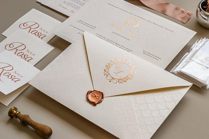 Convites de casamento na cor rosa 4