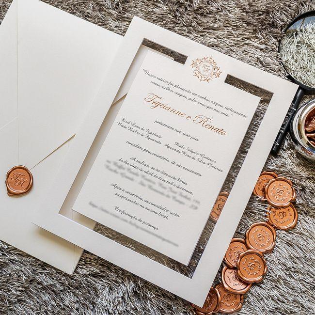 Convites de casamento na cor rosa 5