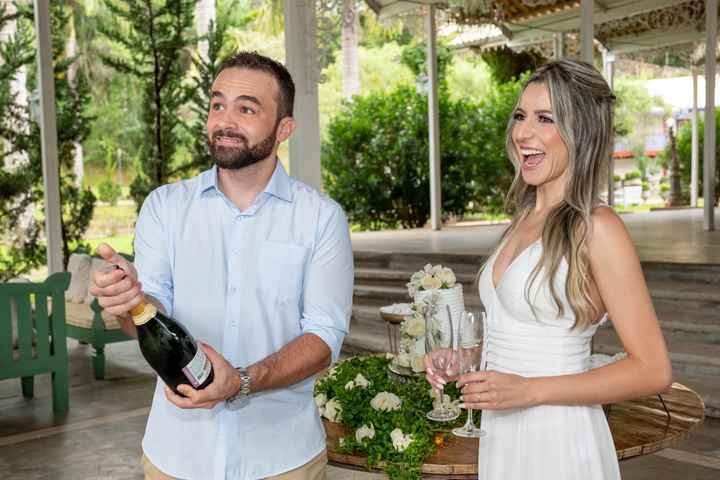 Casamento civil em Tiradentes: Nossa recepção bolo e champanhe - 3