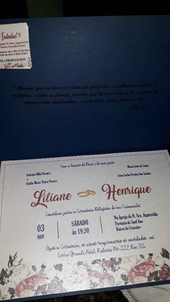 Convite de Casamento - 1