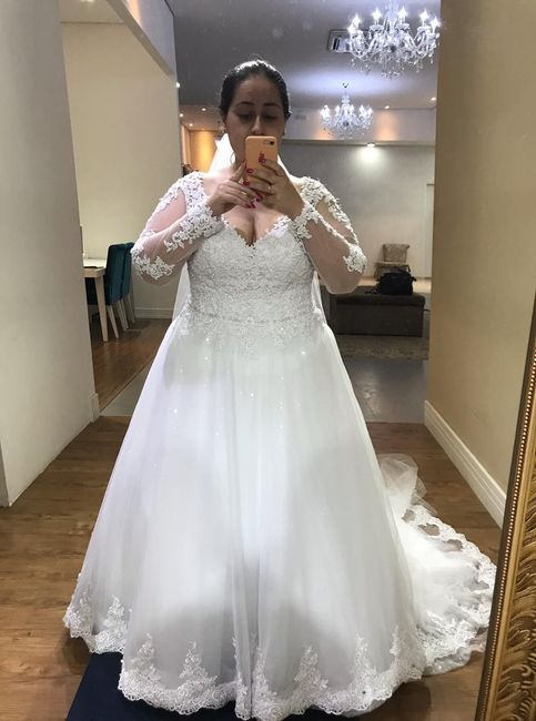 Casei! Minhas escolhas de vestido de noiva e véu 5