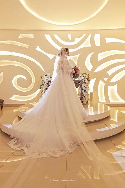 Casei! Minhas escolhas de vestido de noiva e véu 8