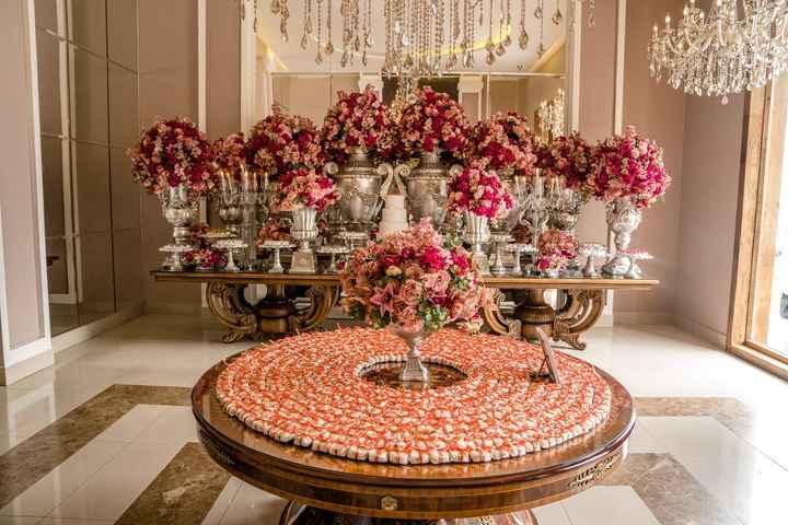 Mesa de bolo e mesa de bem casados