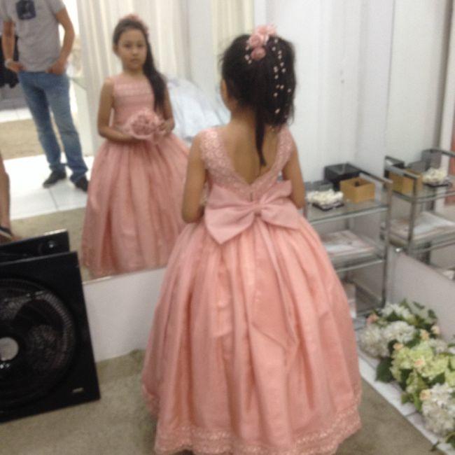 Rosa Vestido Para Florista De Casamento
