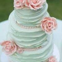 Cores que vão inspirar meu casamento. Rosa e verde claro.