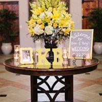 Mesa - decoração amarela