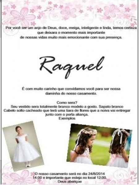 Convite meninas