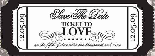 Save the date como se fosse um bilhete de festa/filme/