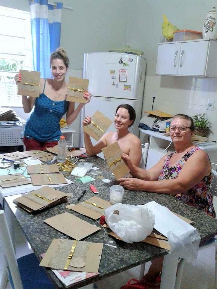 Na confecção dos envelopes