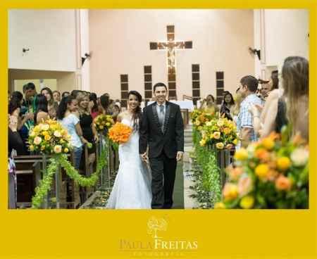As primeiras fotos do casamento