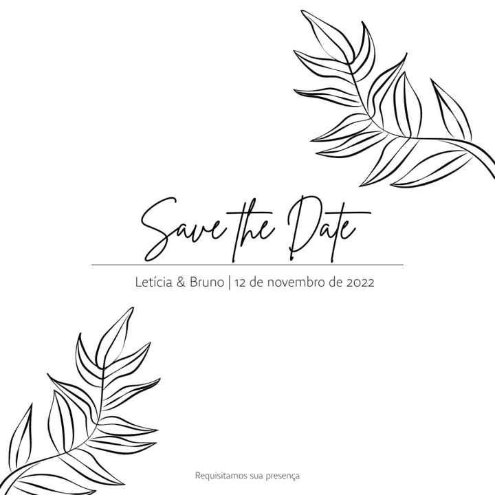 Comunicado + Save the Date - 2