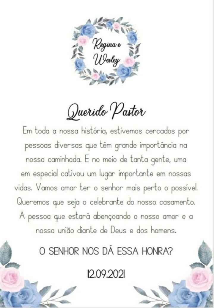 Convite do Pastor - 3