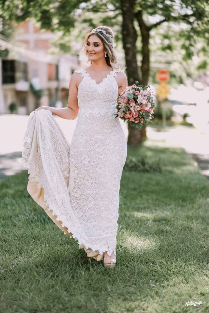 Desfilando antes do casamento.