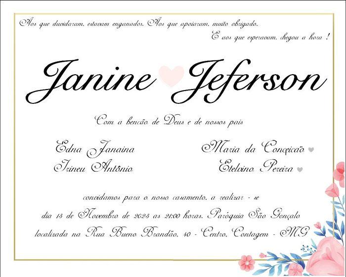 Meu Convite de Casamento (teste) 5