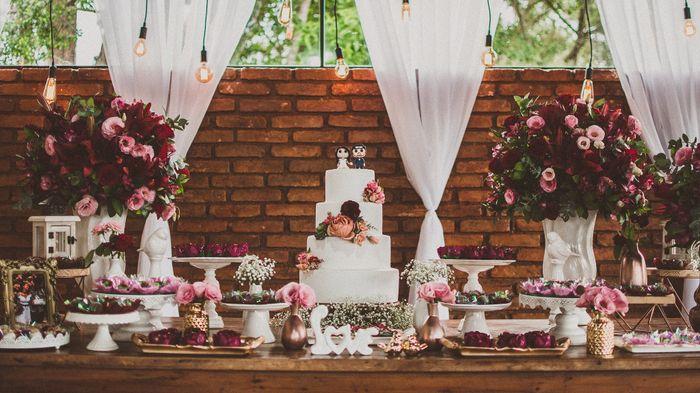 Inspiração: decoração marsala e rosa chá 8
