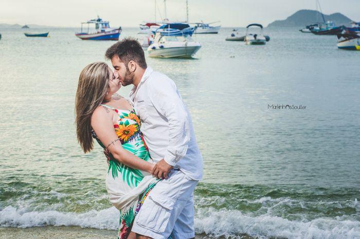 Pré-weddings na comu - Foto de beijo 15