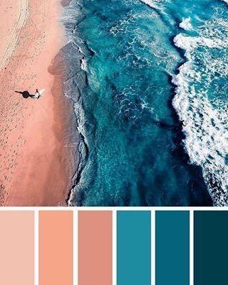 Combinação de cores, com azul e as cores mais claras!