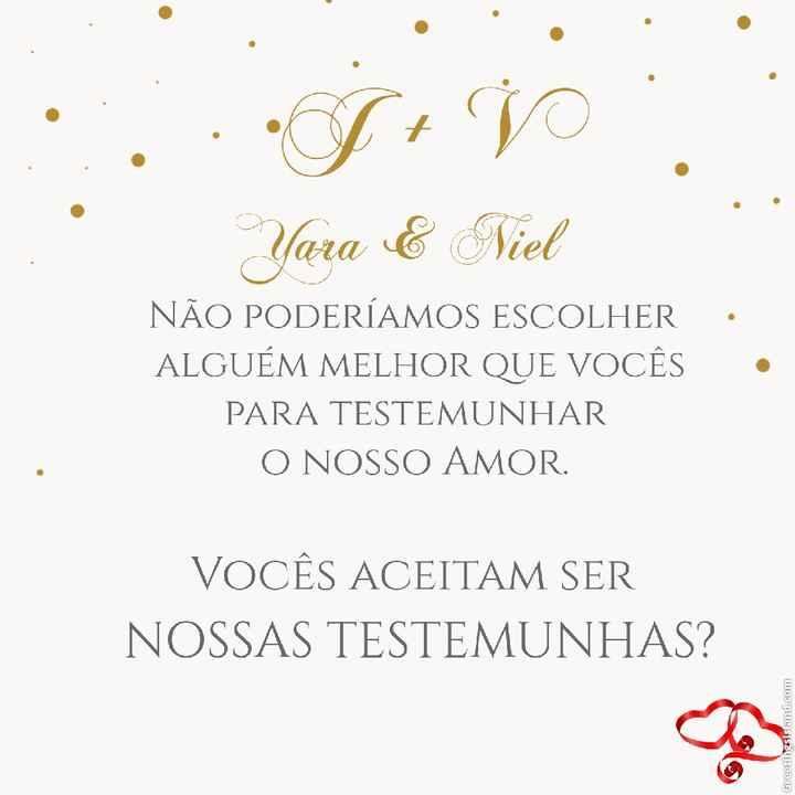 Convite madrinha - 1