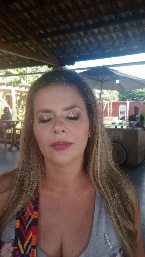 Encontro de noivas, ganhei uma maquiagem profissional - 5