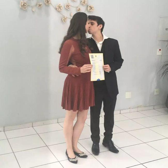 Casadinhos no cartório #oficialmentecasados ❤️🙏🏻 2