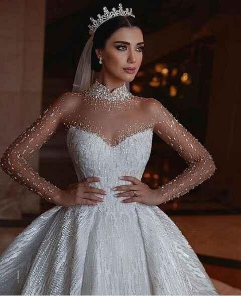 Vestidos de noiva com brilho - 1