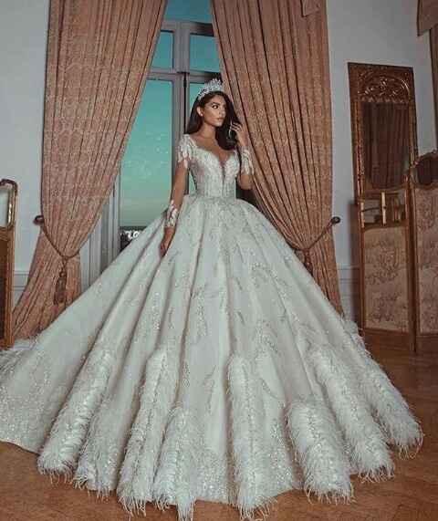 Vestidos de noiva com brilho - 5