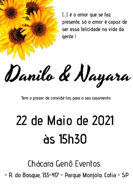 Duvida nos convites 2