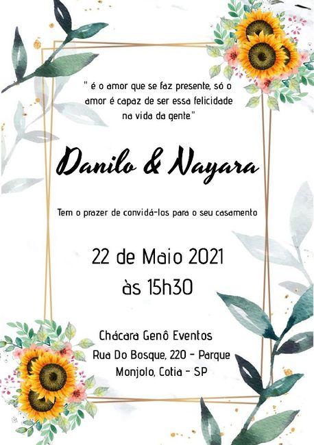 Duvida nos convites 7